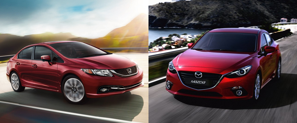 Model Face Off Friday Honda Civic Vs Mazda3  The Official