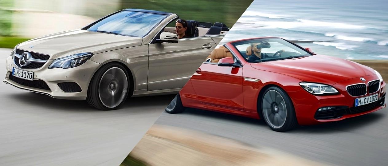 Mercedes-Benz E550 Convertible vs BMW 650i Convertible - The ...