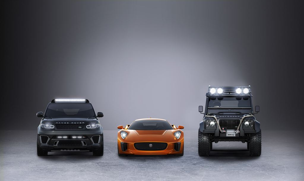 Jaguar C-X75, Range Rover and Land Rover